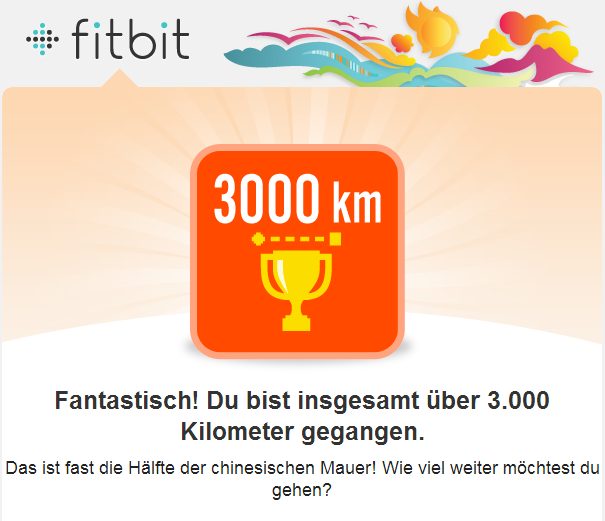 Fitbit 3000 Kilometer-Badge